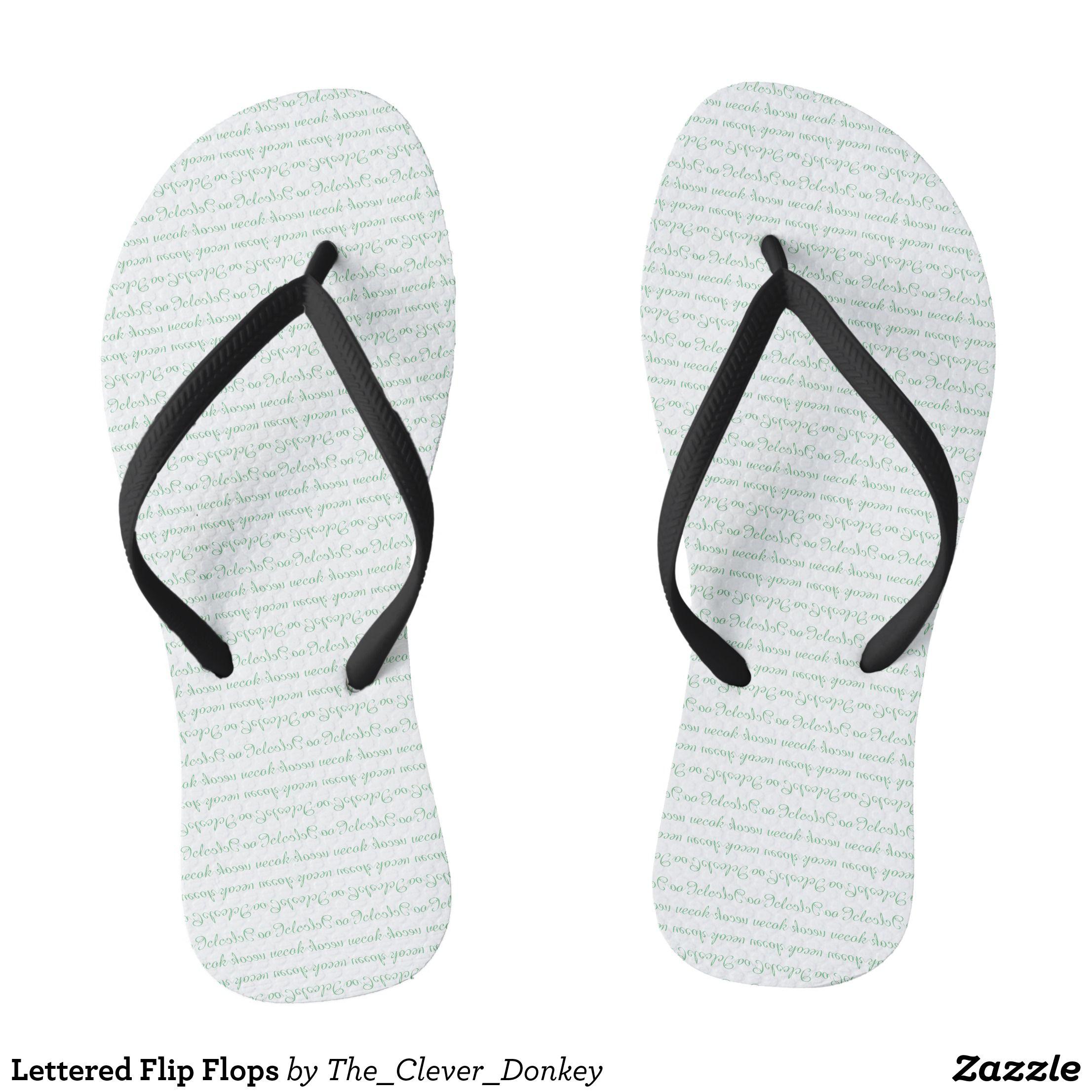 227a36b7ec4b9 Lettered Flip Flops