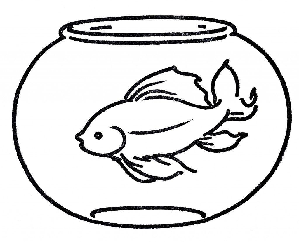 Free Clipart Goldfish In Bowl Line Art Free Clip Art Goldfish Fish Clipart