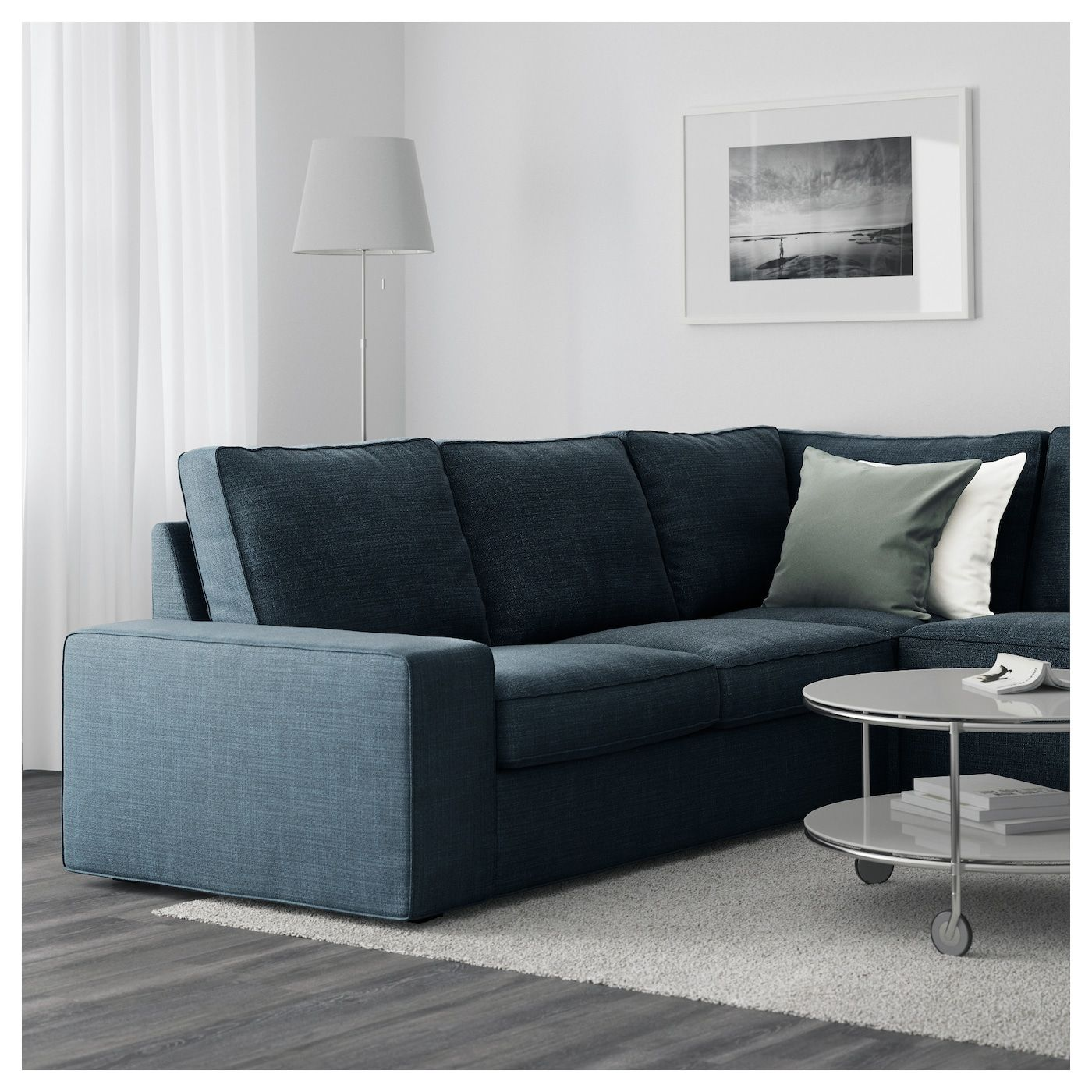 Kivik Sectional 5 Seat Corner Hillared With Chaise Hillared Dark Blue Ikea Ikea Sofa Ikea Sectional Ikea Sofa Bed