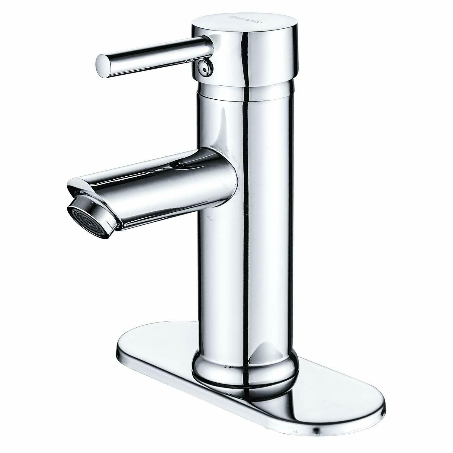 Chaf Single Handle Bathroom Faucet Pullout Spray In Chrome White