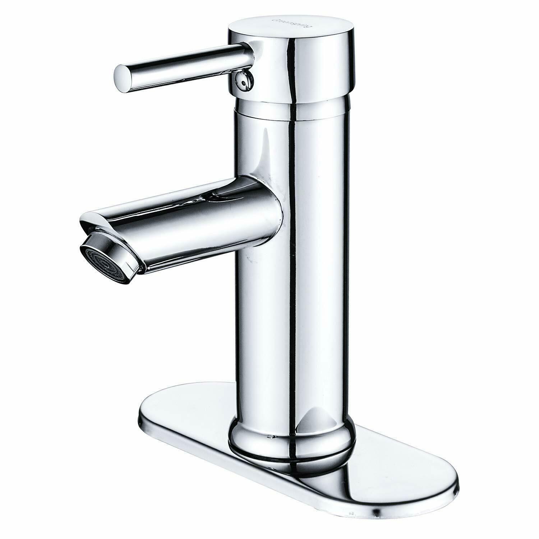 Stainless Steel Single Handle Bathroom Sink Faucet Basin Mixer Tap