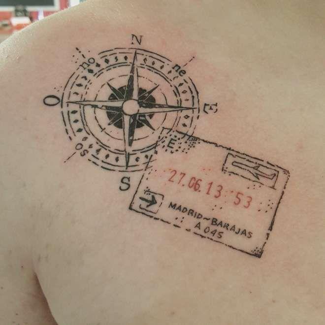 des tatouages en rapport avec le voyage free road trip. Black Bedroom Furniture Sets. Home Design Ideas
