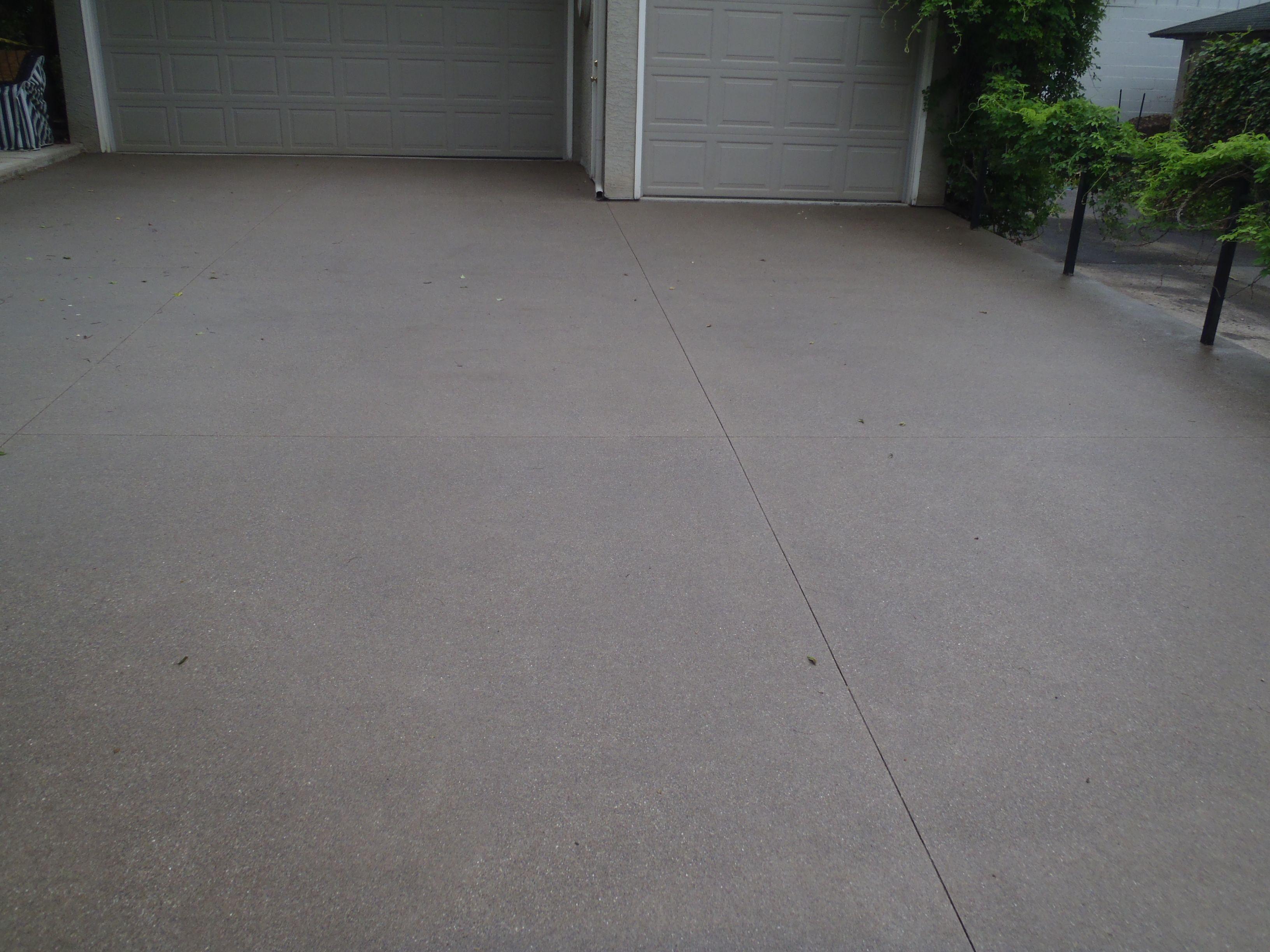 Buff Wash Driveway Concrete Exterior