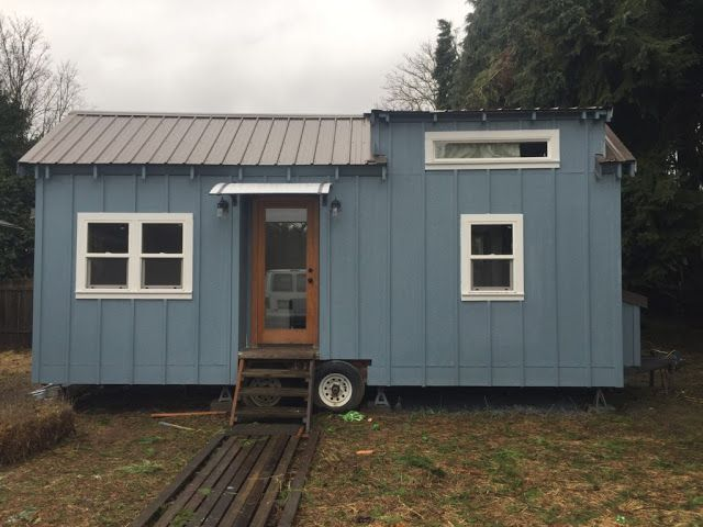 mobile tiny house for sale. Tiny House Cabin · A Bright, Blue Modern Home With 200 Sq Ft Of Space, Available For Sale Mobile