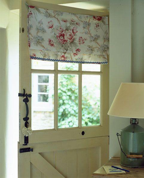 Dutch Door, Curtain, Handle.