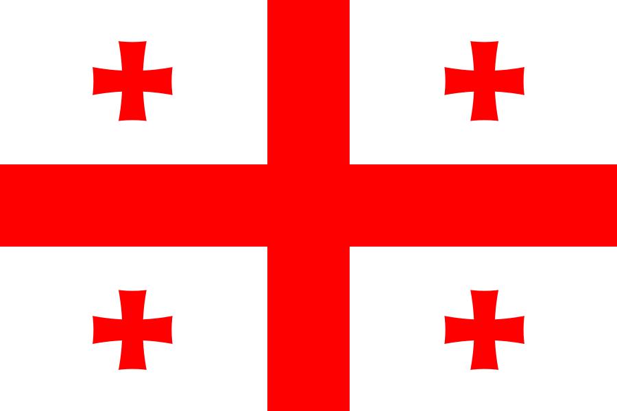 Flag of Georgia - Bandeiras da Ásia – Wikipédia, a enciclopédia livre