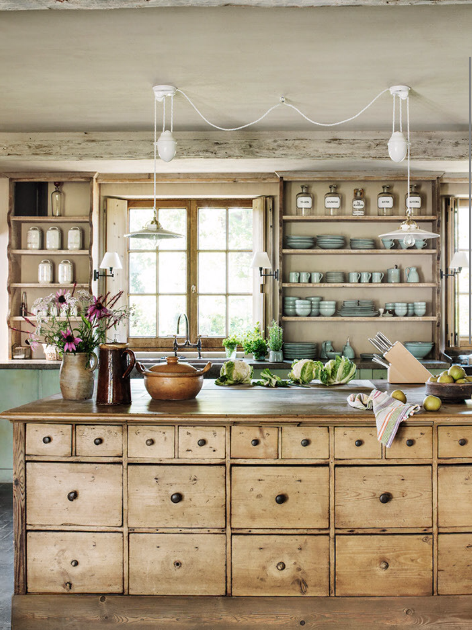 Antique apothecary cabinets kitchen decor colors moodboard