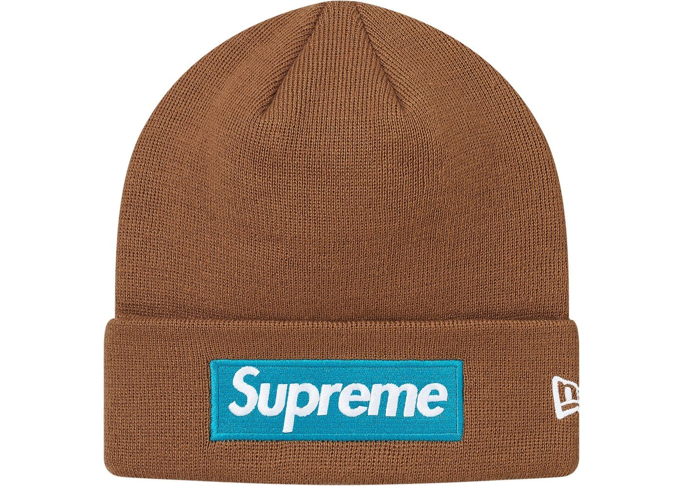 82ff970cd140c Check out the Supreme New Era Box Logo Beanie (FW17) Rust available on  StockX
