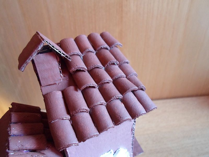 how to build a model house out of clay
