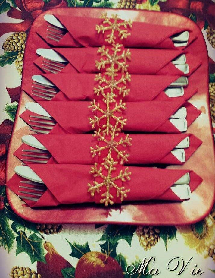 Fermatovaglioli di Natale - Christmas napkin rings (by Ma Vie