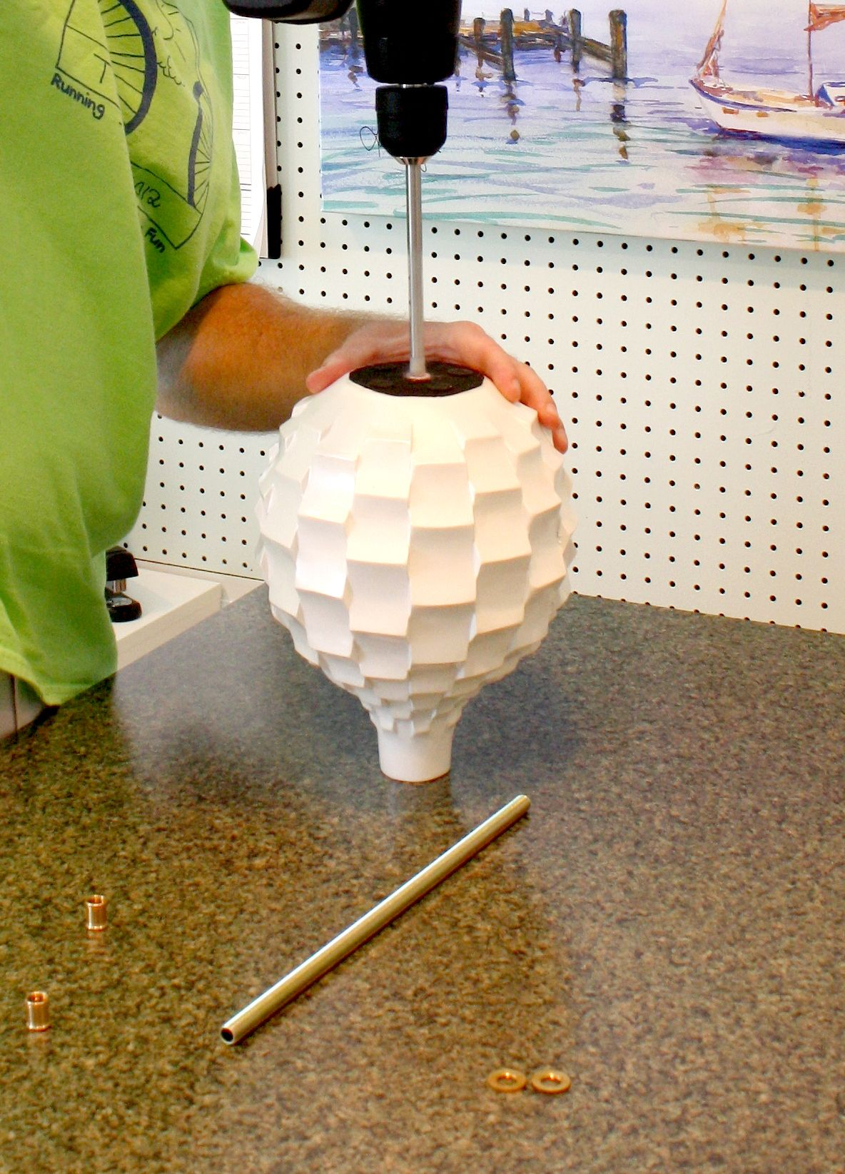 How To Make A Lamp From A Vase Make A Lamp Diy Lamp Diy Lighting