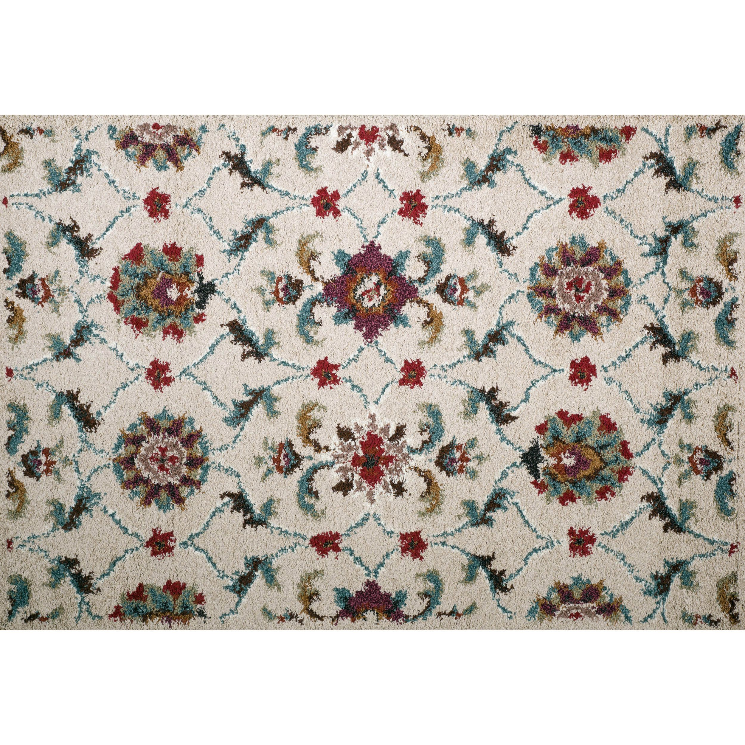 Christopher Knight Home Rose Aston Fl Frieze Rug 8 X 10 Multi Red Size