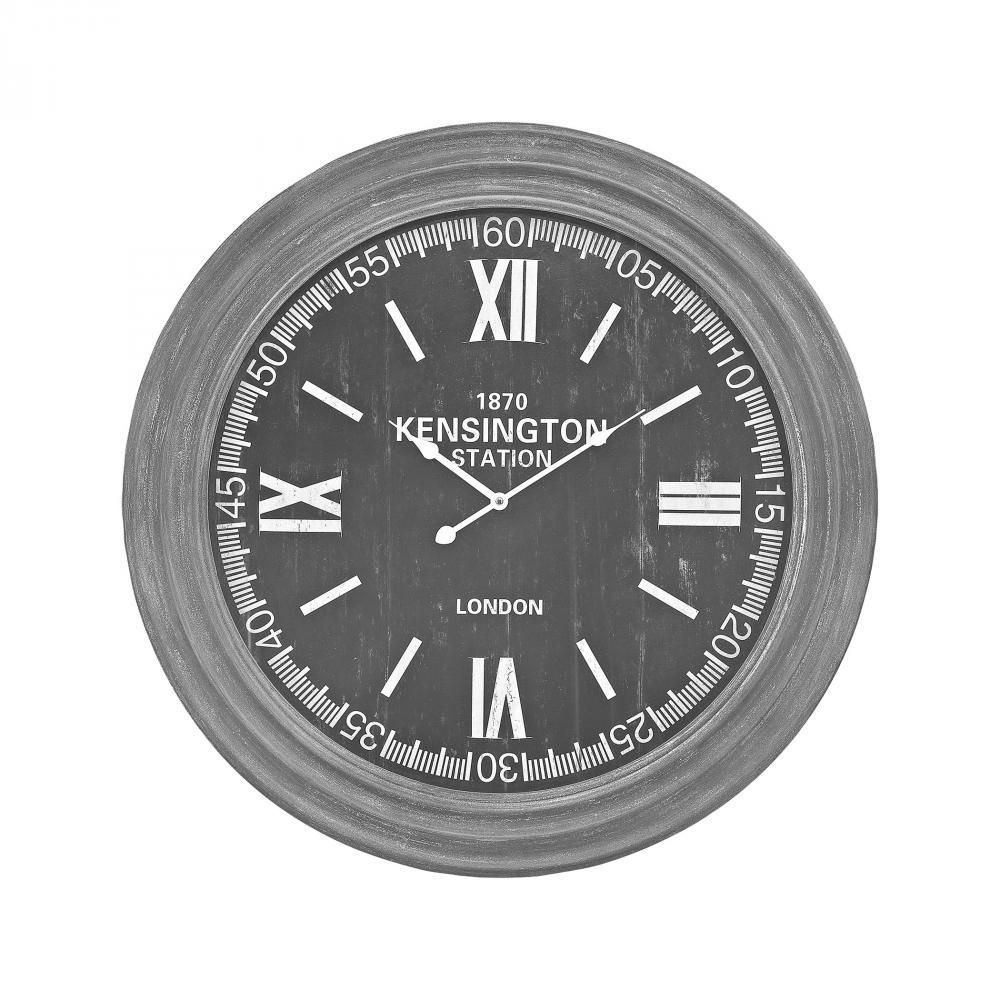 Home Decor By Sterling Industries London Wall Clock In Preda Aged Grey  351 10245