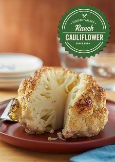 Slow Cooker Whole Cauliflower | Hidden Valley® Ran