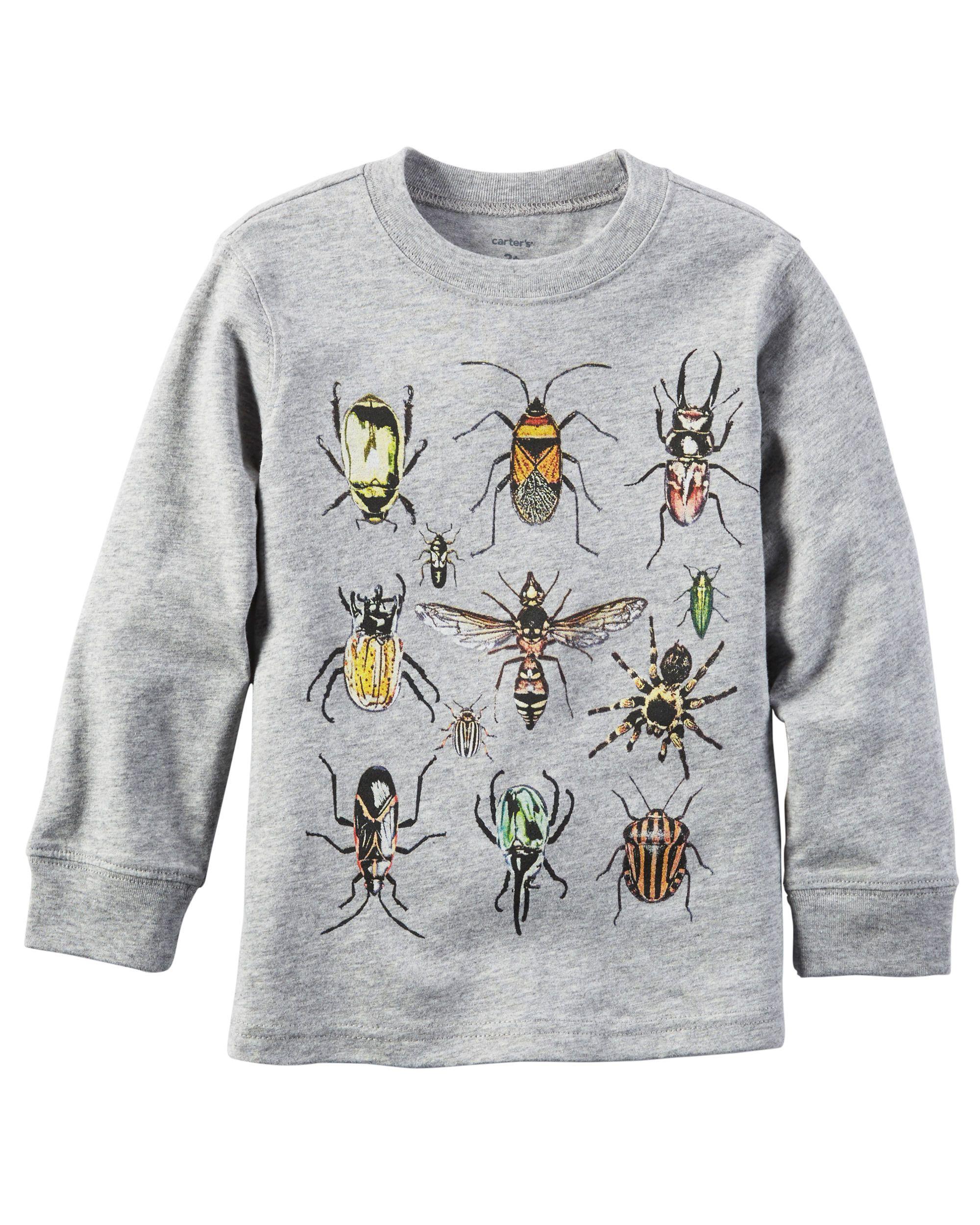 Baby Boy Long-Sleeve Bug Graphic Tee | Carters.com | Kids ...