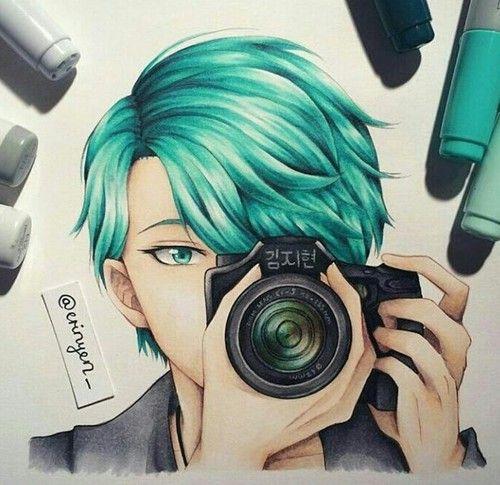 anime art and blue mystic