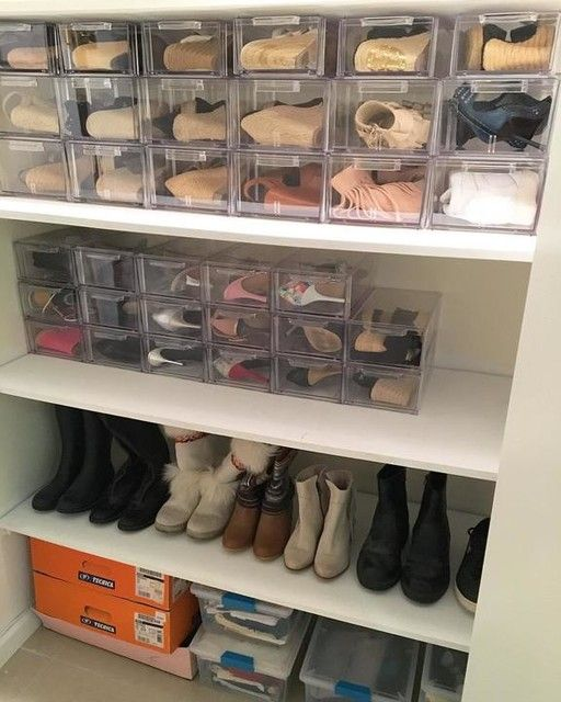 Clear Stackable Small Shoe Drawer Shoe Organization Closet