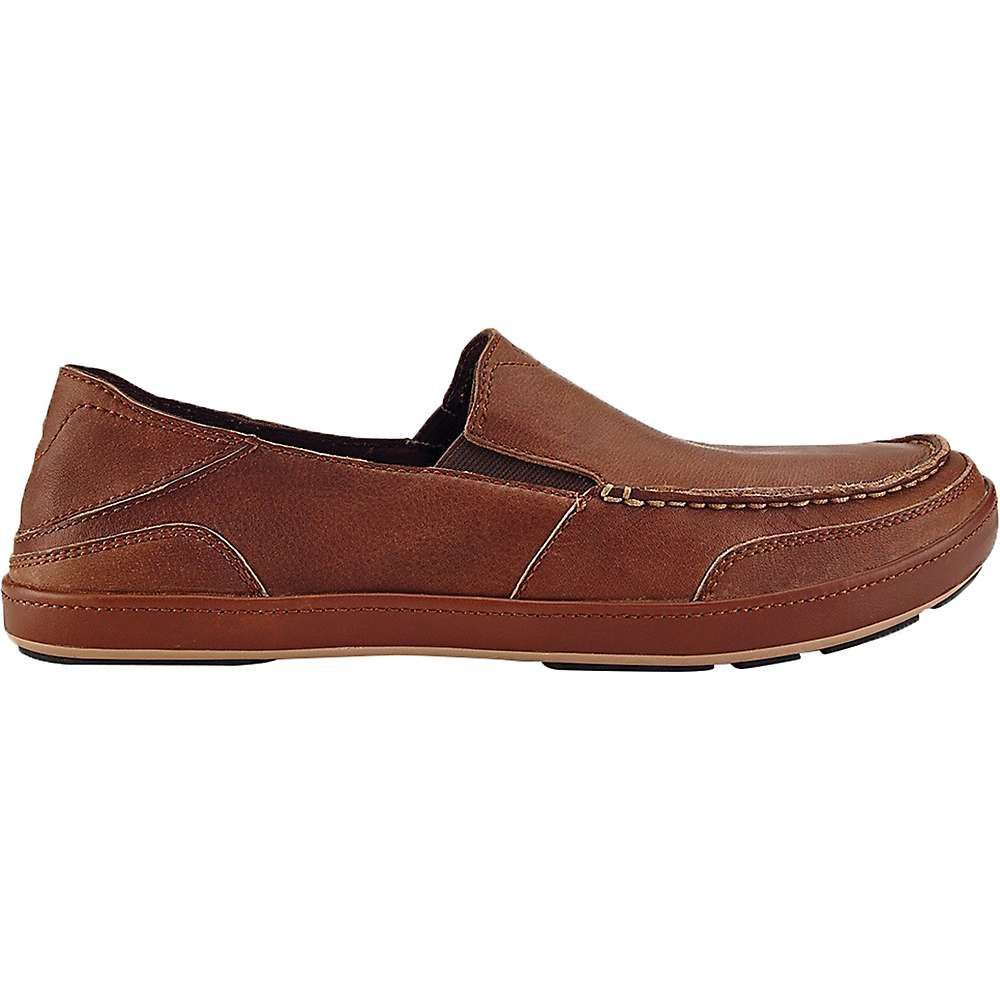 Olukai Men's Puhalu Leather Shoe - 9.5 - Toffee / Toffee