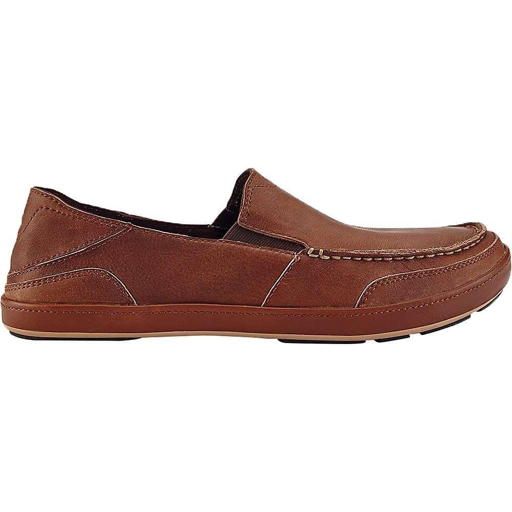 Olukai Men's Puhalu Leather Shoe - 9.5 - Toffee / Toffee