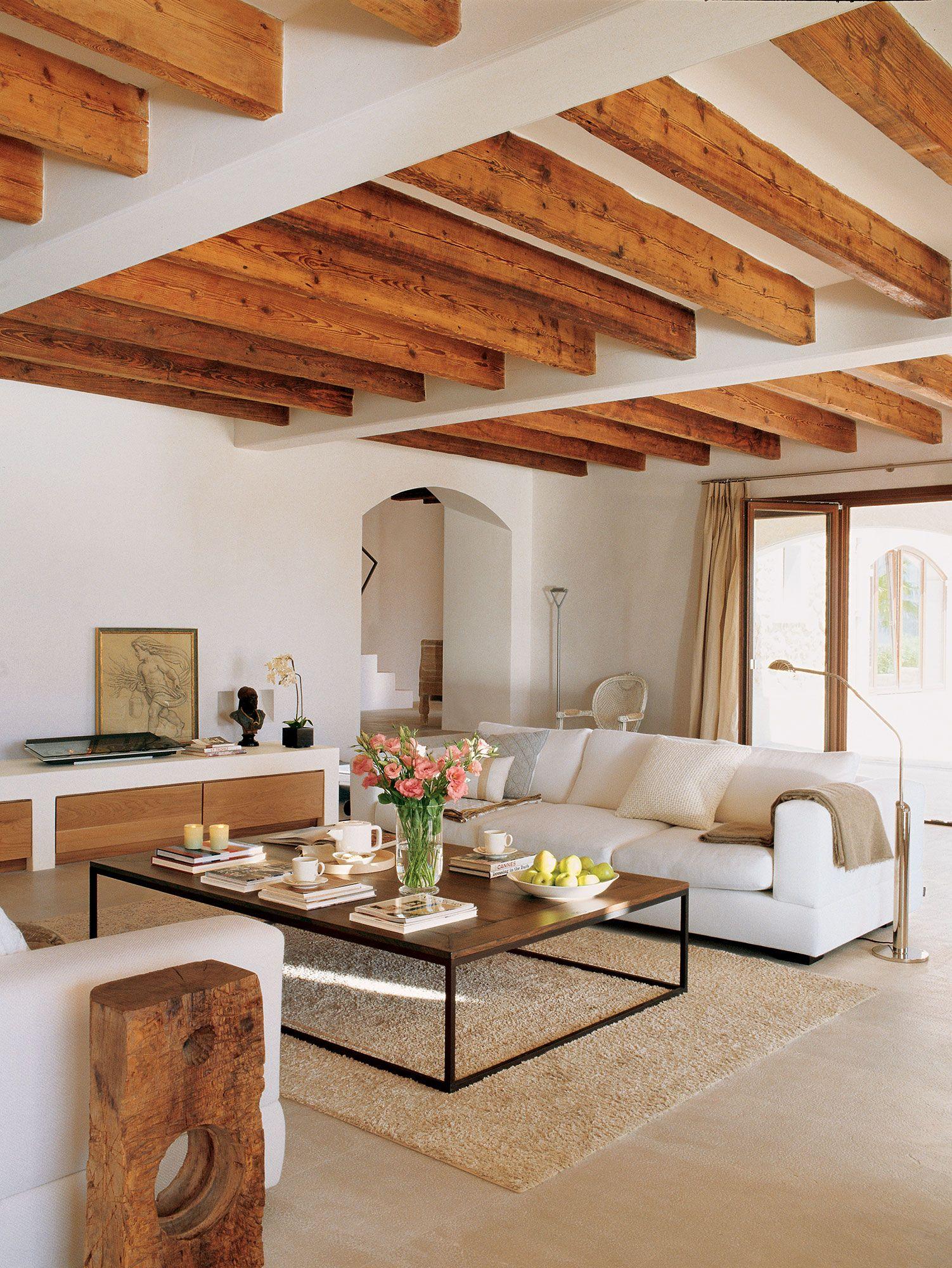 Decorar Con Vigas Recuperadas Home Home Interior Design Home Living Room