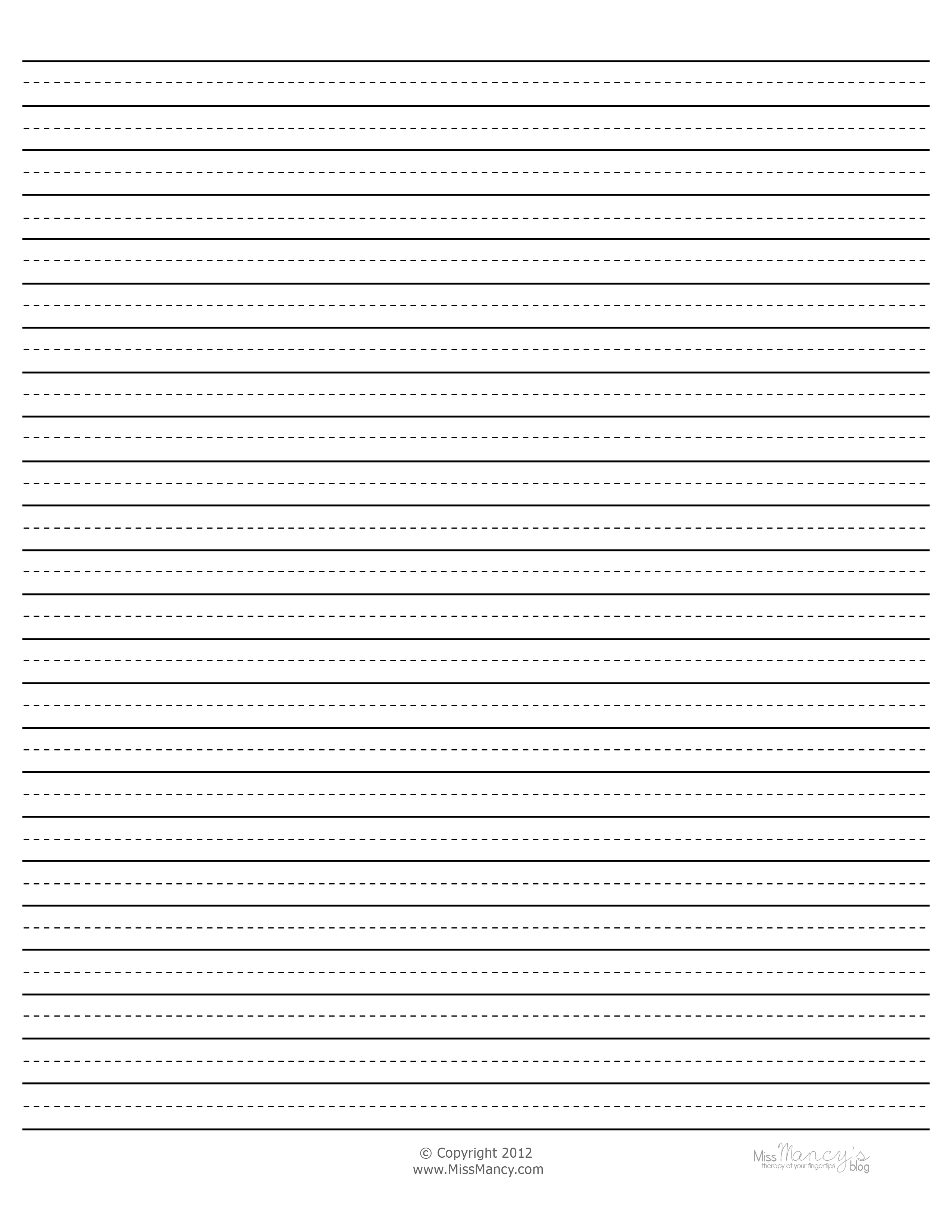 Paper With Thick Lines