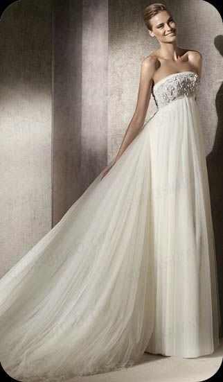 http://www.shefashion6.com                       Item 2012BP0015   Strapless Court Train A Line Chiffon Wedding Dress; Real top fabric, competitive price!!!  own factory produced in China.