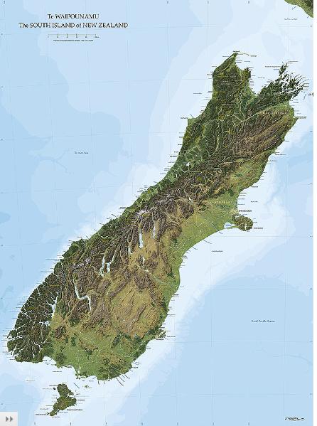 New Zealand Wall Maps  pressies  Pinterest  Wall maps