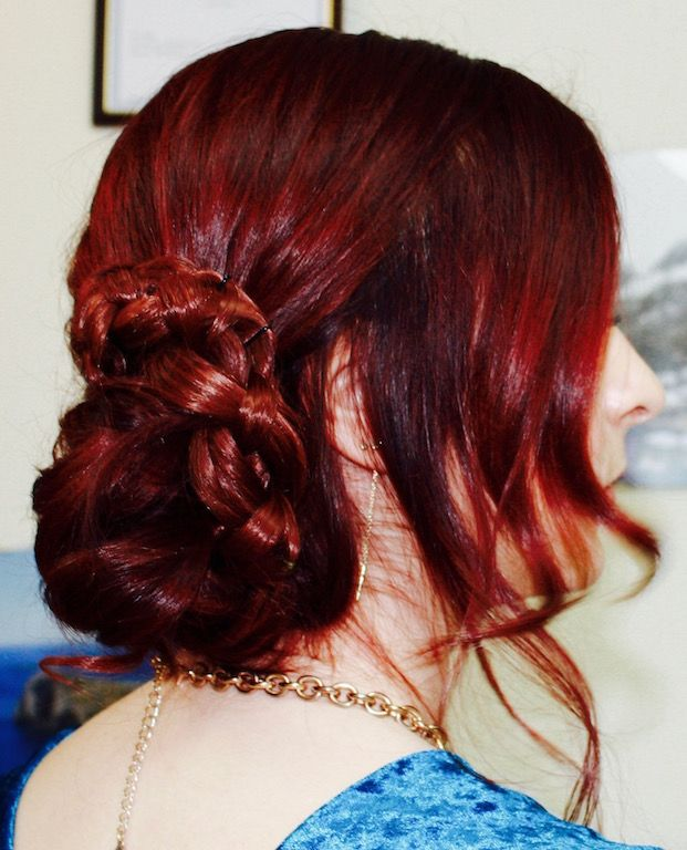 Weaving Undone Braids Into A Loose Messy Bun You Add The Perfect Finish To Your Modern Formal