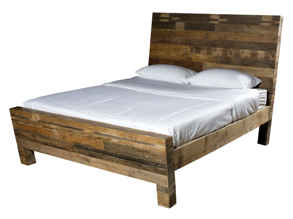 Rustic Four Hands Sierra Carson Queen Bed Wood Bedroom
