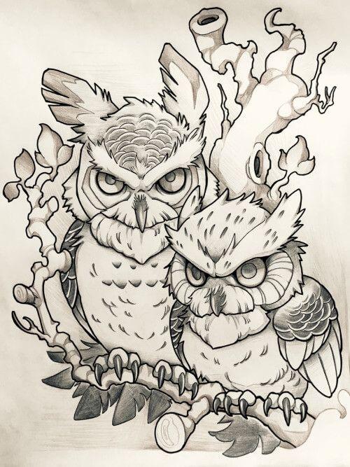 Tattoo Flash Line Drawing Converter : Owl tattoo designs and ideas pinterest