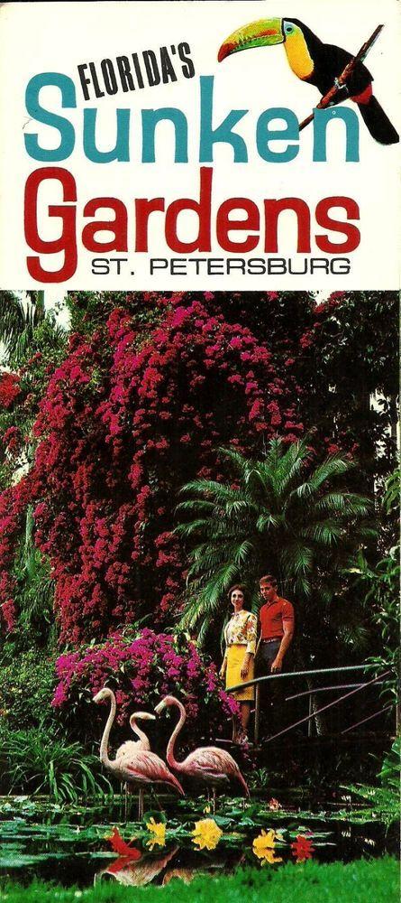 Vintage 1960s/1970s Florida Sunken Gardens St. Petersburg