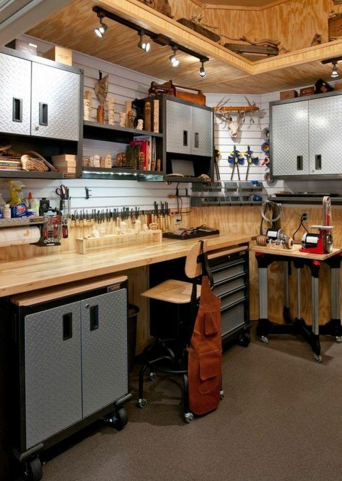 Idees Pour Amenager Avec Une Armoire Metallique Les Styles D Interieurs Remodelage De Garage Boutique De Garage Design Garage