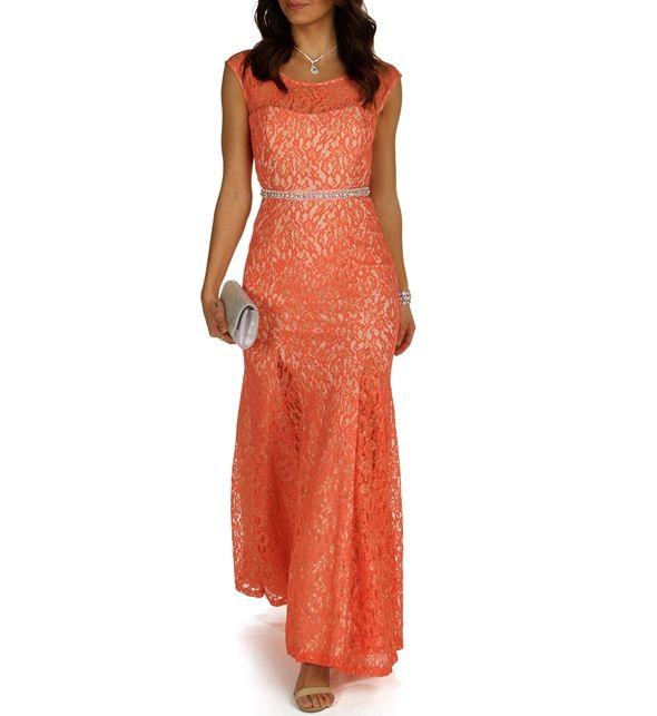 Kiki- Orange Prom Dress