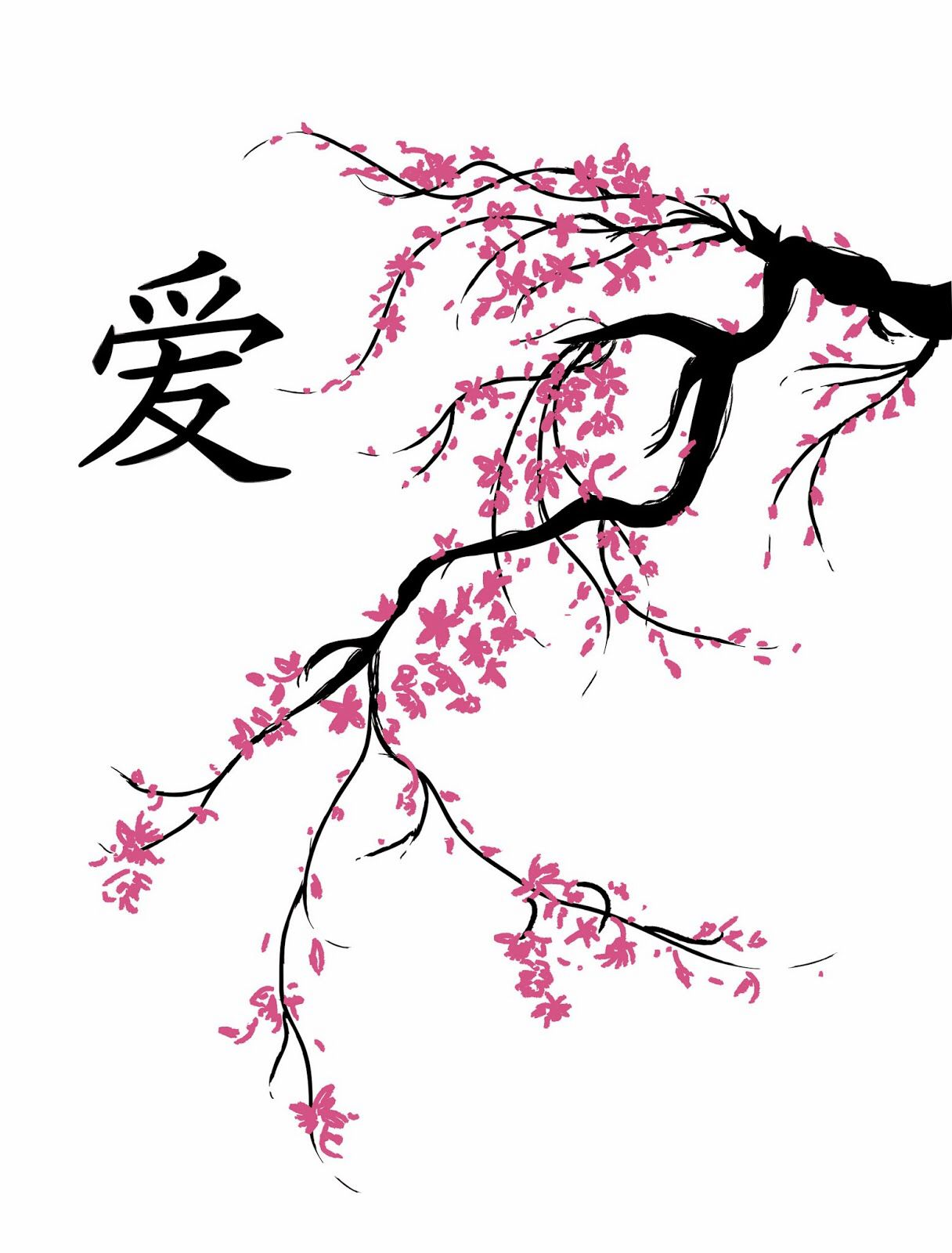 Cherry Blossom Design Cherry Blossom Tree Tattoo Blossom Tree Tattoo Cherry Blossom Drawing