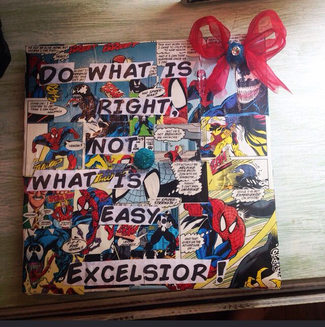 Marvel Graduation Cap Do What Is Right Not What Is Easy