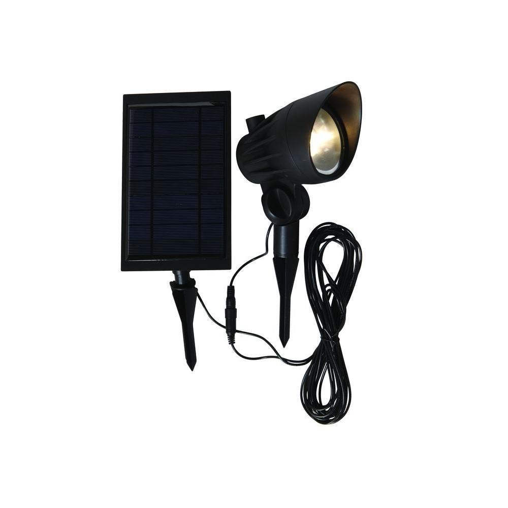 Hampton Bay Solar Black Led Outdoor Spotlight Nxt 3149 The Home Depot Hampton Bay Solar Led Solar
