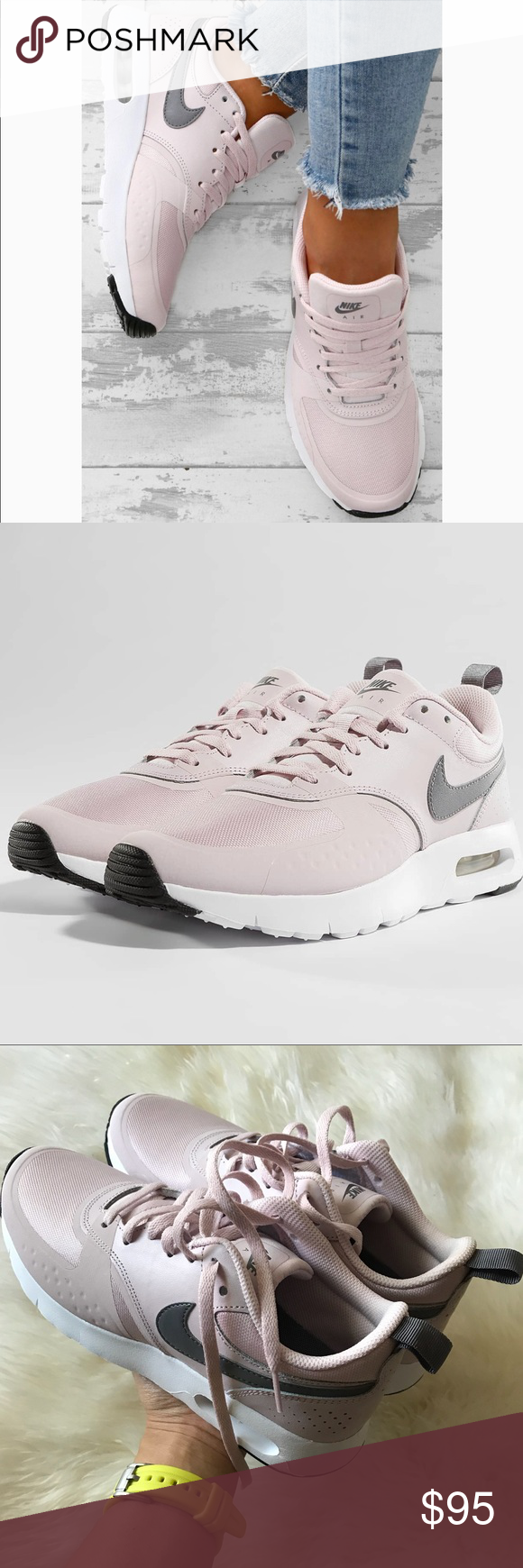 outlet store 62e71 4247d Nike air max vision sneakers Nike air max vision sneakers New with box,  without lid Size 5Y - ( women s 6.5 ) Barely rose gunsmoke white Nike Shoes  Sneakers