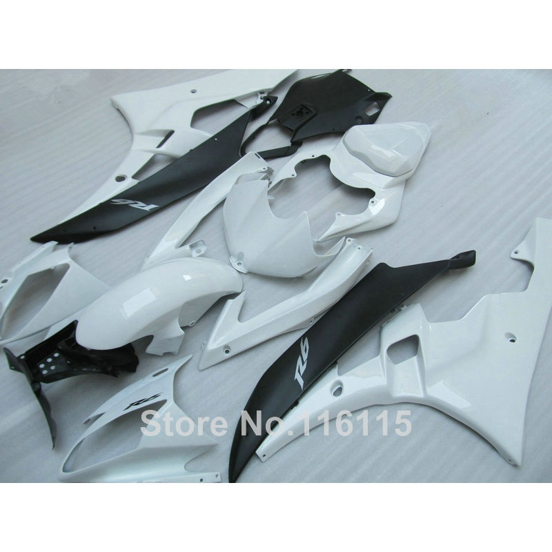 288.00$  Buy here - http://aipt9.worlditems.win/all/product.php?id=32623625392 - Body kits Fit for YAMAHA YZF R6 2006 2007 white matte black fairings set YZF-R6 06 07 fairing kit Injection molding HY2