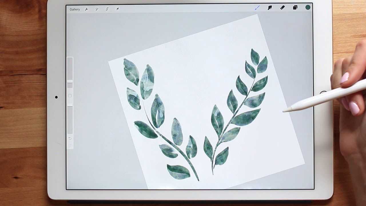 How I Make Watercolor Clipart Painting Florals In Procreate
