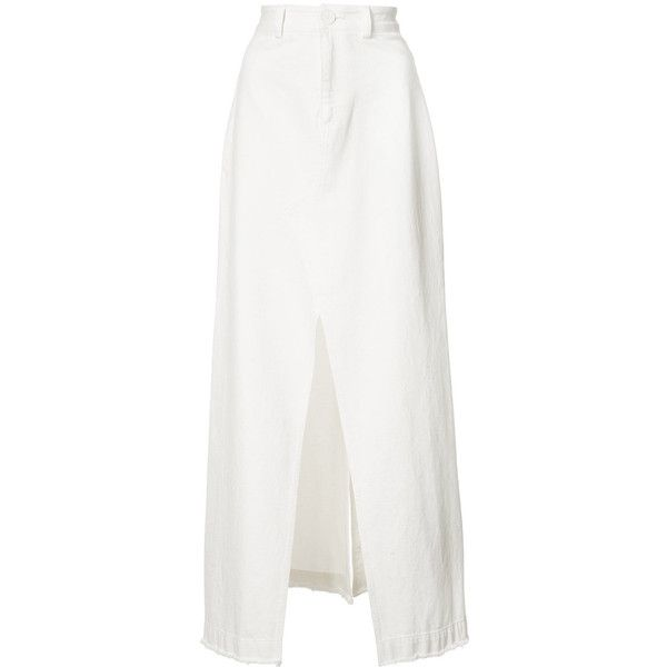 49d4fd5d0f Sea slit front maxi skirt ($535) ❤ liked on Polyvore featuring skirts, white