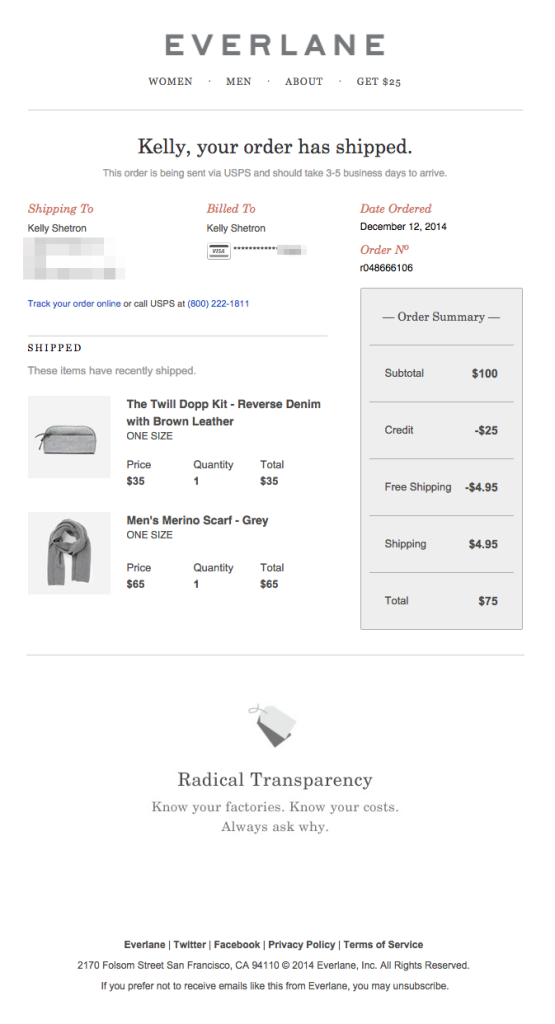 Design Tips For Shipping Confirmation Emails Shipping Confirmation