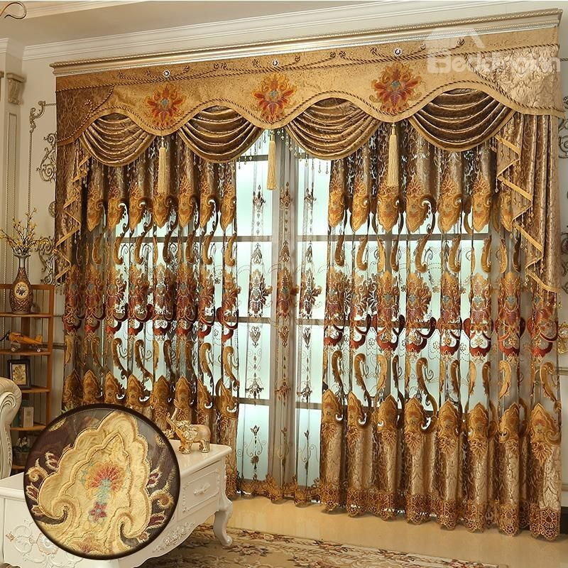 Decorative And Blackout High Quality Chenille Hollowed Out Luxury Living Room Curtain Beddinginn Luxury Curtains Curtains Living Room Window Curtains Bedroom