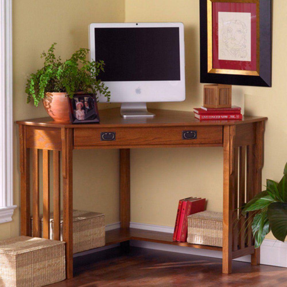 southern enterprises mission oak corner computer desk corner computer desks computer desks and computers awesome oak corner laptop desk