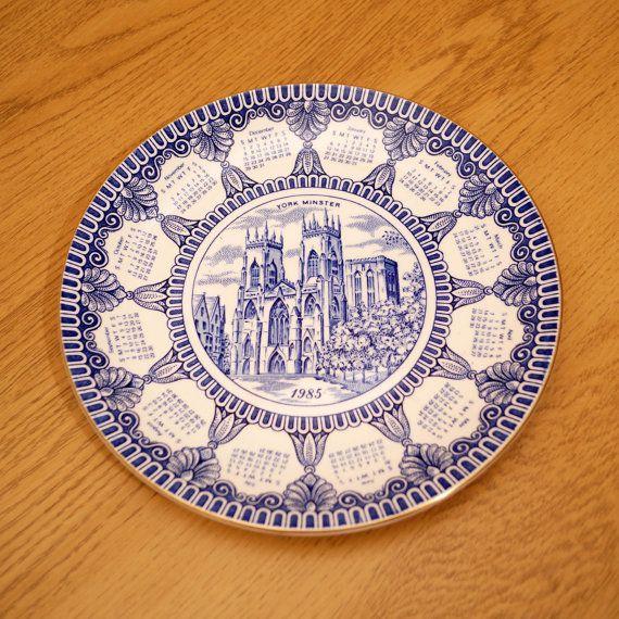 1985 Calendar Porcelain Decorative Plate York By Ukamobile