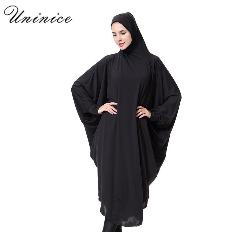 0e9ecc48e2132 Click to Buy << Muslim Dress Women Turkish Dubai Robe Abaya with Hijab  Islamic Dress Islam Clothing for Women Robe Musulmance Djellaba #Affiliate