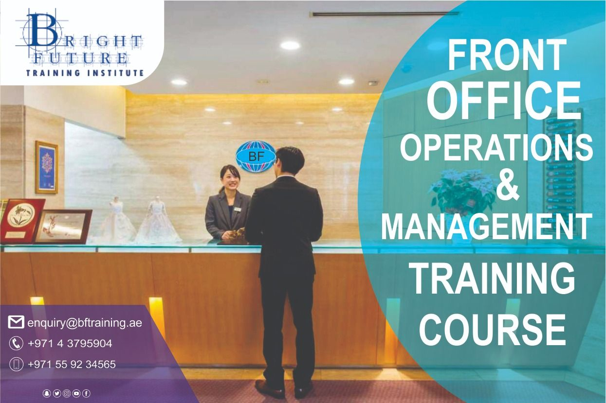 Managing front office operations and management training