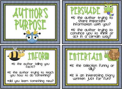 Authors Purpose - Lessons - Tes Teach