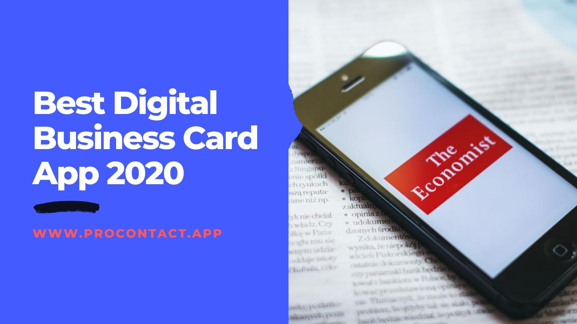 Best Digital Business Card App 2020 Procontact App Digital Business Card Business Card App Digital Business
