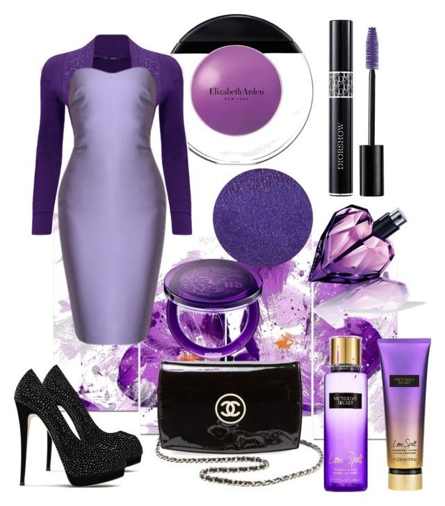 #PurpleDress by joicesanthos on Polyvore featuring polyvore fashion style WearAll Giuseppe Zanotti Chanel Elizabeth Arden Christian Dior Lipstick Queen Urban Decay Diesel Victoria's Secret Design Art clothing