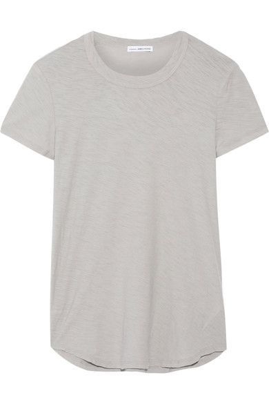 Slub Cotton-jersey T-shirt - Light gray James Perse Browse For Sale o2SY5WPbO
